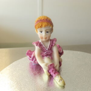 Purple Pink Dress Figurine